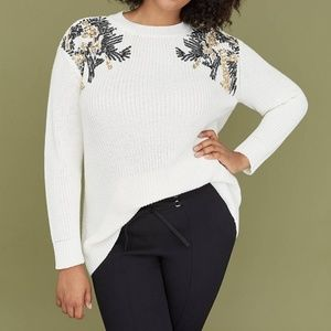 New Lane Bryant Sequin Embellished Sweater